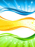 Abstract colour  banners Royalty Free Stock Photography