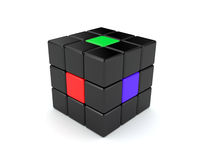 Abstract colour cube Stock Photos