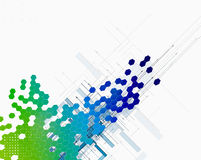 Abstract colour dot hexagon innovation technology background stock illustration