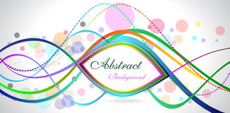Abstract colour full backgroound with ovals Royalty Free Stock Photo