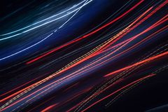 Abstract colour glowing lines in motion royalty free stock photography