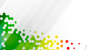 Abstract colour hexagon technology background stock illustration