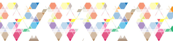 Abstract colour mesh triangle background banner for site header royalty free illustration