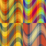 Abstract colour seamless patterns Royalty Free Stock Photography