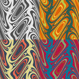 Abstract colour seamless patterns Stock Images