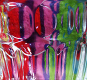 Abstract coloured. Abstract colours and shapes through glass royalty free stock photos