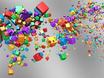Abstract coloured boxes Royalty Free Stock Images