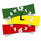 Abstract Coloured Clock Royalty Free Stock Image