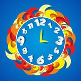 Abstract Coloured Clock Royalty Free Stock Photos