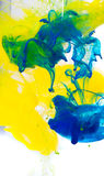 Abstract coloured ink in the water, Paint mixing royalty free stock images