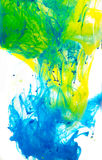 Abstract coloured ink in the water, Paint mixing stock photography