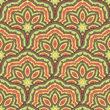 Abstract colored oriental seamless pattern Royalty Free Stock Photos