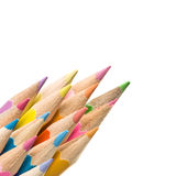 Abstract Coloured Pencils Royalty Free Stock Photography