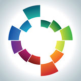 Abstract coloured ring Stock Photo