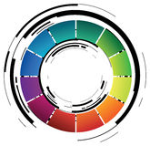 Abstract coloured ring Stock Image
