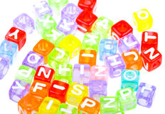 Abstract colourful alphabet blocks background Royalty Free Stock Photos