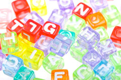 Abstract colourful alphabet blocks background Stock Image