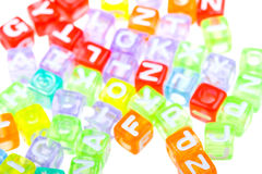 Abstract colourful alphabet blocks to background Stock Photo