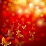 Abstract colourful background with butterflies Stock Photos