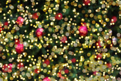 Abstract colourful background of Christmas tree bokeh with mini Stock Image