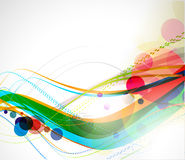Abstract colourful backgroung. Abstract colourful circle wave line background Stock Photos