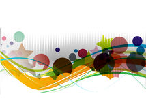 Abstract colourful backgroung. Abstract colourful circle wave line background royalty free illustration