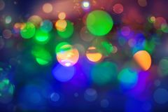 Abstract colourful bokeh background. Colorful blur vivid toned bokeh background royalty free stock photo