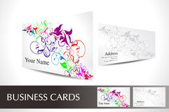 Abstract colourful business card Royalty Free Stock Photos