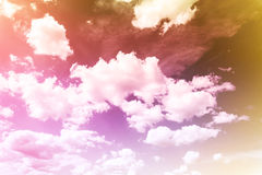 Abstract colourful dreamy sky with romantic soft mood Royalty Free Stock Photos