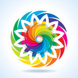 Abstract colourful fashion background in circle Stock Photo
