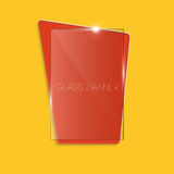 Abstract colourful glass banner Stock Images