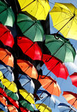 Abstract Colourful Hanging Umbrellas Royalty Free Stock Photography