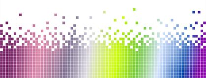 Abstract colourful mosaic background-pixelated Royalty Free Stock Images