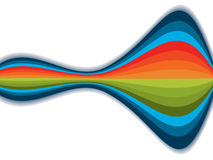 Abstract colourful rainbow waves royalty free illustration