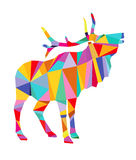 Abstract colourful reindeer Stock Image