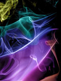 Abstract Colourful Smoke Stock Image