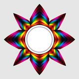 Abstract colourful star with copy space border Stock Photography