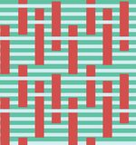 Abstract colourful stripe vector seamless pattern with block elements. Surface pattern design stock illustration