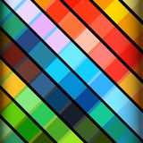 Abstract colourful striped background. Abstract Background with Multicoloured Stripes Over Black Stock Photography