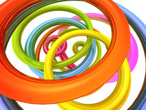 Abstract colourful torus background. 3d rendered illustration Royalty Free Stock Photo