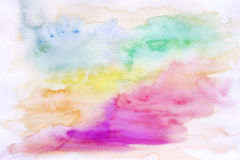 Abstract colourful watercolor background. Close up Stock Images