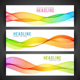 Abstract colourful wave  on white Royalty Free Stock Photo