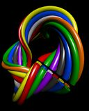 Abstract colourful wire connection concept Stock Image