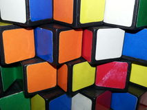 Abstract, colours, squares, puzzles Stock Photography