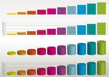 Abstract columns background Stock Image