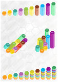 Abstract columns background Stock Images