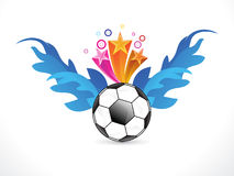 Abstract colurful football explode Royalty Free Stock Image
