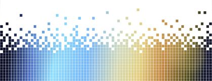 Abstract colurful mosaic background-pixelated in blue and brown Royalty Free Stock Images