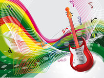 Abstract Colurful Musical Background Stock Images