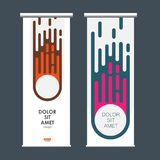Abstract comet on vertical banners.  Royalty Free Stock Photo